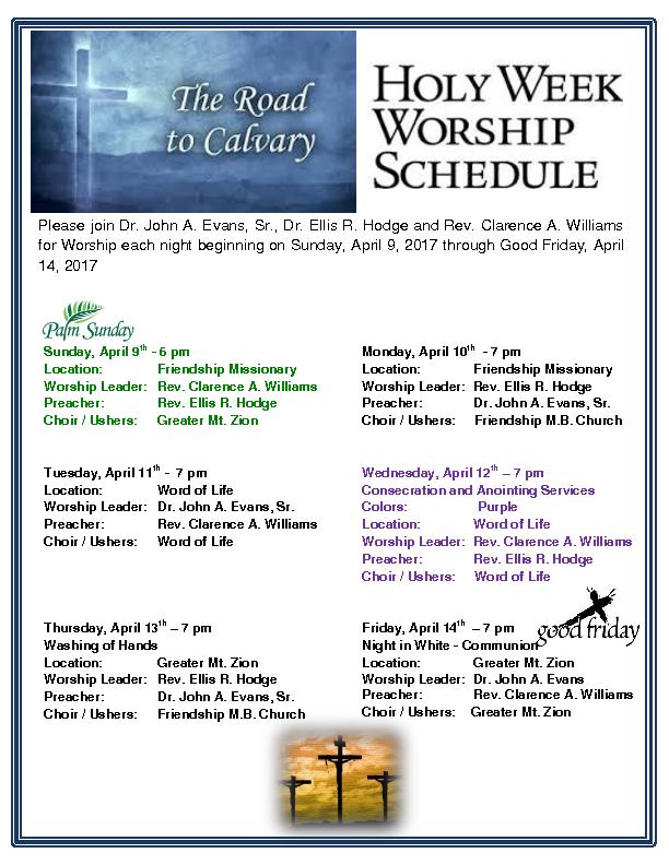 2017 Holy Week Flyer